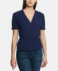 1.STATE V-Neck Peplum Top