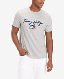 Tommy Hilfiger Denim Men's Gorman Tufted Logo Graphic T-Shirt