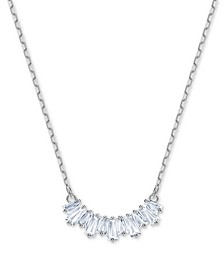 "Crystal Row Pendant Necklace, 14-7/8"" + 2"" extender"