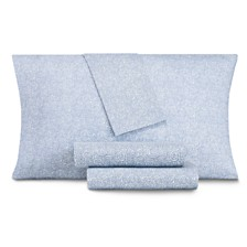 CLOSEOUT! AQ Textiles Modernist Floral 4-Pc Queen Sheet Set, 350 Thread Count Cotton Blend