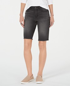 Style & Co Denim Bermuda Shorts, Created for Macy's