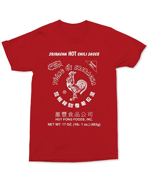 Tee Homme Changes Tee shirt shirt Rouge et Graphic Homme pour Sriracha UzMSqVGp