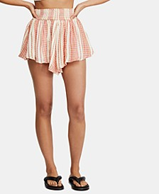 She Will Be Loved Striped Shorts