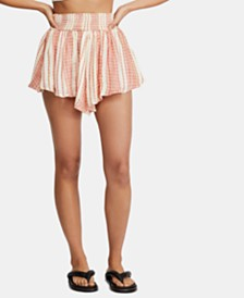 Free People She Will Be Loved Striped Shorts