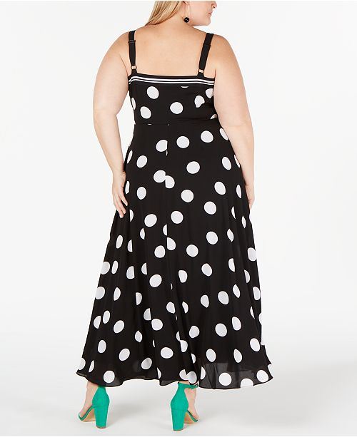 Plus pois et Concepts a Tailles a Inc imprime a Sprinkle Robes Robe pourAvis Size International Dot poisCree maxi doBeCx