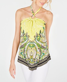 I.N.C. Embellished Halter Top, Created for Macy's