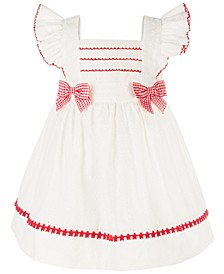 Baby Girls Eyelet Pinafore Dress