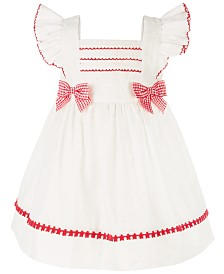 Bonnie Baby Baby Girls Eyelet Pinafore Dress