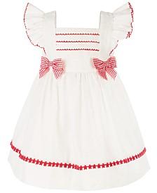 Bonnie Baby Baby Girls Eyelet Pinafore Dress