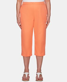 Alfred Dunner Martinique Pull-On Cropped Pants