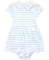 784709354 Polo Ralph Lauren Baby Girls Striped Cotton Interlock Dress