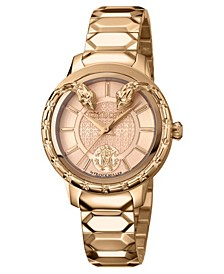 By Franck Muller Women's Swiss Quartz Rose-Tone Stainless Steel Bracelet Watch, 34mm