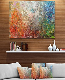 """Designart 'Board Stained Abstract Art' Abstract Metal Wall Art - 40"""" X 30"""""""