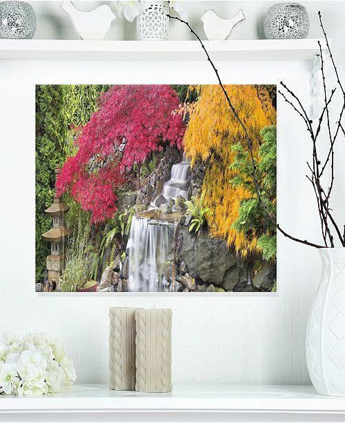 "Design Art Designart 'Japanese Maple Trees' Floral Photography Metal Wall Art - 20"" X 12"""