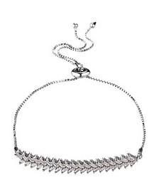 Double Row Cubic Zirconia Slider Bracelet