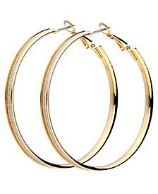 Metal Chain Hoop Earring