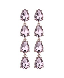Four Teardrop Stone Earring