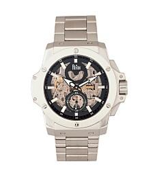 Reign Commodus Automatic Black Dial, Skeleton BraceletStainless Steel Watch 48mm