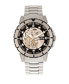 Reign Philippe Automatic Black Dial, Skeleton Bracelet Stainless Steel Watch 41mm