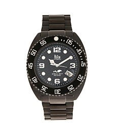Reign Quentin Automatic Pro-Diver Bracelet Black Stainless Steel Watch 45mm