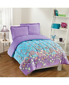 Butterfly Dreams 3-Piece Comforter Set, Full