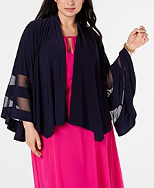 Plus Size Illusion-Trim Jacket