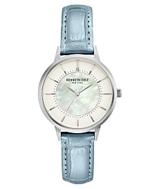 Kenneth Cole New York Ladie's Leather Strap with Mother Of Pearl Dial, 32MM