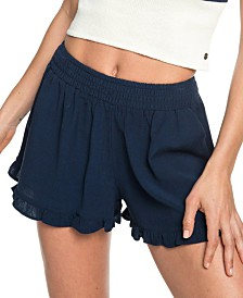 Roxy Juniors' Ruffled Pull-On Shorts