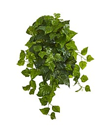 "28"" Deluxe London Ivy Hanging Bush Artificial Plant (Set of 3) (Real Touch)"