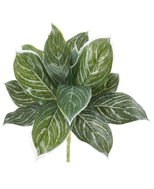 """Nearly Natural 21"""" Silver Aglaonema Artificial Plant (Real Touch) (Set of 6)"""