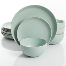 Laurie Gates Rockaway Teal 12-piece Dinnerware Set