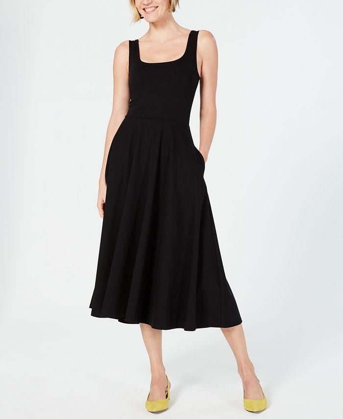 Alfani - Tank Fit & Flare Midi Dress