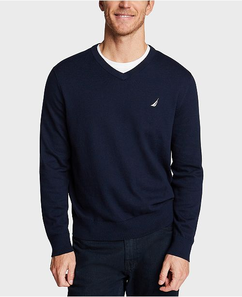 Nautica Men's Navtech V-Neck Sweater