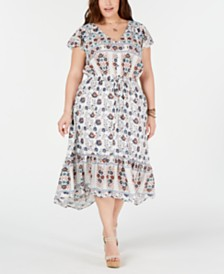 Lucky Brand Plus Size Cotton Printed Felice Dress