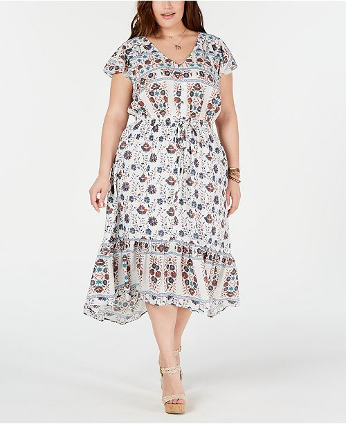 Lucky Brand Plus Size Cotton Printed Felice Dress & Reviews ...