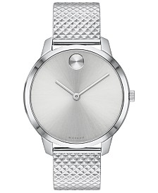 Movado Women's Swiss BOLD Stainless Steel Bracelet Watch 35mm