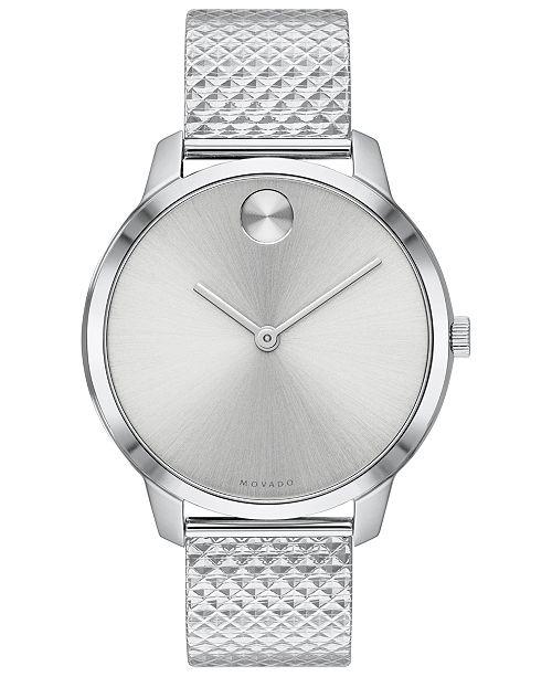 Movado Women's Swiss BOLD Stainless Steel Bracelet Watch 35mm