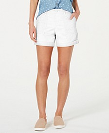 Eyelet-Pocket Cuffed Shorts, Created for Macy's
