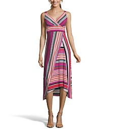John Paul Richard Multistripe Sleeveless Dress
