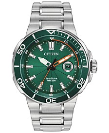 LIMITED EDITION Citizen Eco-Drive Men's Endeavor Stainless Steel Bracelet Watch 47mm, Created For Macy's