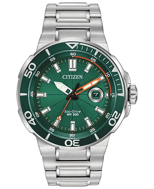 Citizen LIMITED EDITION Eco-Drive Men's Endeavor Stainless Steel Bracelet Watch 47mm, Created For Macy's