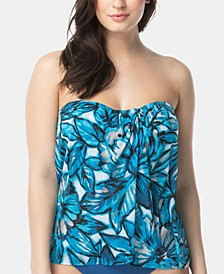 Contours Printed Bra-Sized Tankini Top