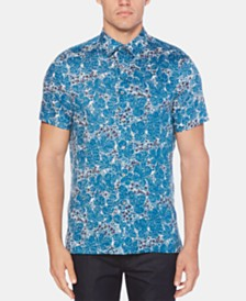 Perry Ellis Men's Leaf-Print Shirt