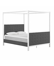 by Cosmopolitan Bowery Upholstered Metal Canopy Bed