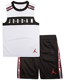 Jordan Little Boys 2-Pc. Jordan-Print Tank & Shorts Set
