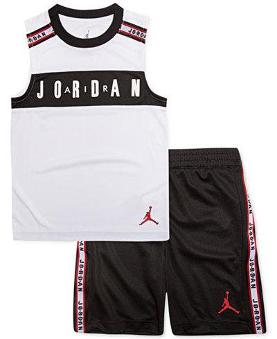 Jordan Little Boys 2-Pc. Jordan-Print Tank & Shorts Set
