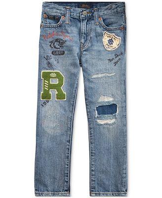 Polo Ralph Lauren Toddler Boys Sullivan Slim Distressed Cotton Jeans