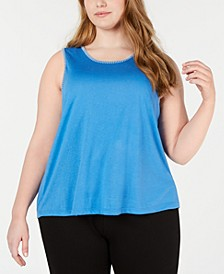 Plus Stitch-Trim Pajama Tank Top, Created for Macy's