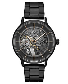 Men's Metal Bracelet with Skeleton Automatic Dial, 41MM