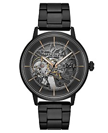 Kenneth Cole New York Men's Metal Bracelet with Skeleton Automatic Dial, 41MM